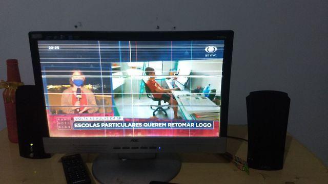 Tv/Monitor 17 polegadas lcd + receptor Intelbras+ caixinhas de som+ conversor - Foto 2