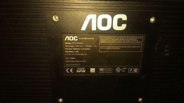 Tv/Monitor 17 polegadas lcd + receptor Intelbras+ caixinhas de som+ conversor - Foto 3