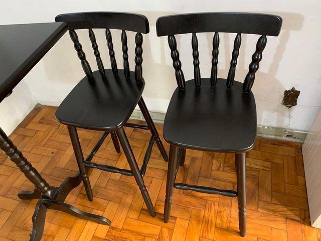 Mesa Bistrô - 2 Cadeiras de Madeira - Foto 6