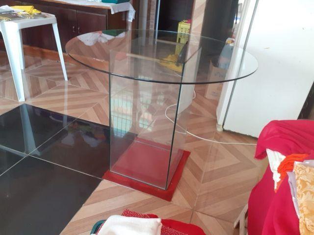 Mesa de vidro redonda - Foto 2