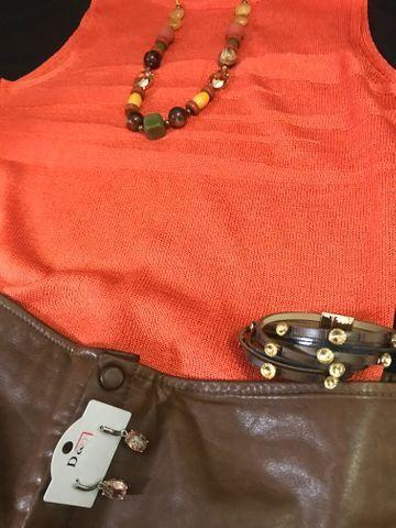 Calça de couro +os acessórios veste 42/44 - Foto 5