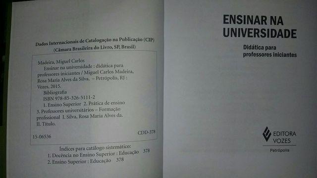 Livro Ensinar na Universidade - Foto 3