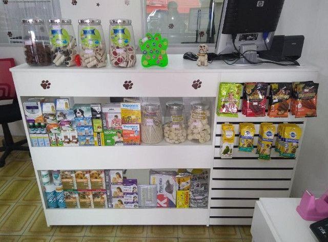 Balcão Vitrine com Vidro para loja de Pet Shop com Frete Grátis Direto da Fabrica - Foto 2