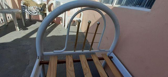 Cama de solteiro de ferro - Foto 4