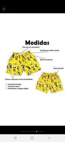 Shorts Praia de Tactel Masculinos - Foto 2