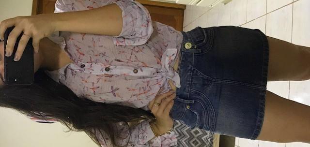 Camisa e Saia Feminina