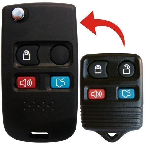 Chave Canivete Alarme Original Ford Ecosport Fiesta Ka Novo 3 e 4 botões