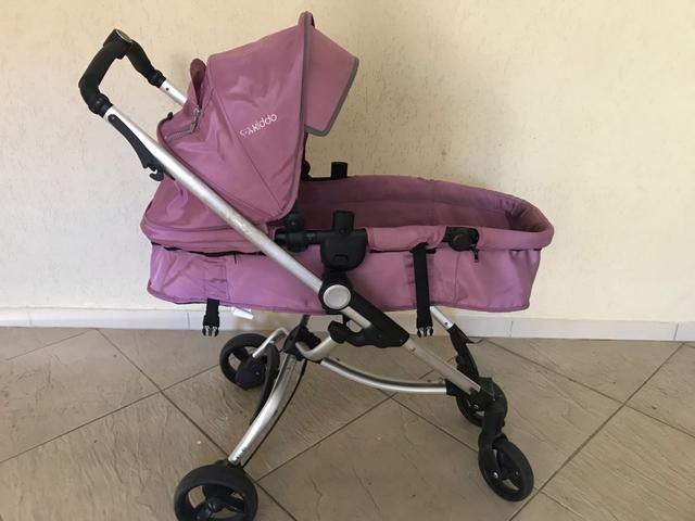 Kit carrinho e bebê conforto Kiddo - Foto 4