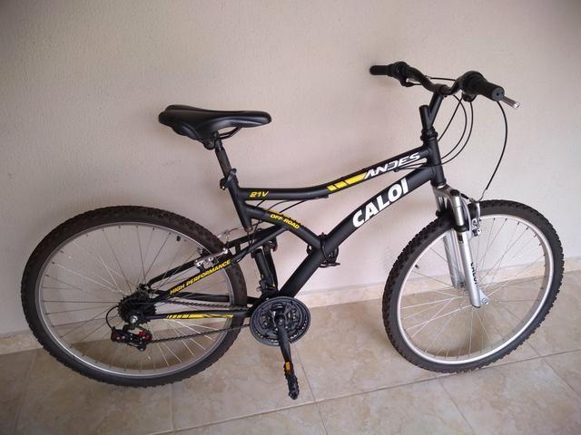 Bicicleta Aro 26 Mountain Bike Caloi Andes 21 Marchas Suspensão Dianteira 2dda051b74c97