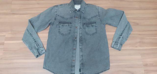 Camisao jeans infantil - tam 12