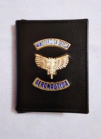 Carteira em couro da Aeronáutica (emblema) - Foto 5
