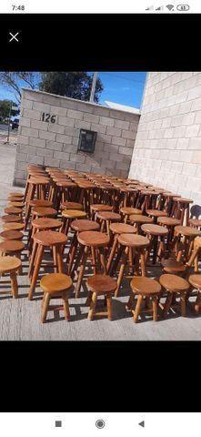Banqueta de madeiras na mega promoção na loja (31)33545975 - Foto 5