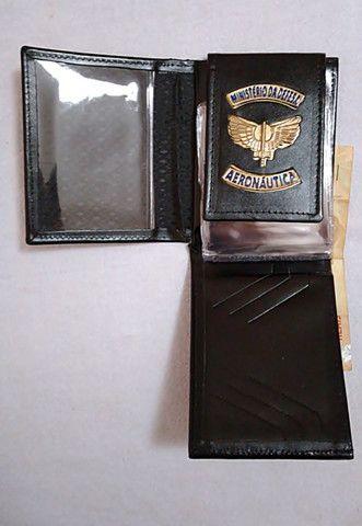 Carteira em couro da Aeronáutica (emblema) - Foto 4