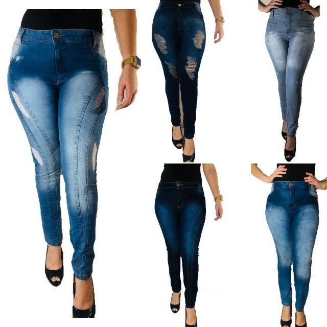 Kit 5 calças Jeans femininas- Para revenda - Foto 3