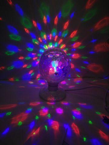 Lâmpada Led Giratória RGB Colorido Festa Bola Maluca Bivolt