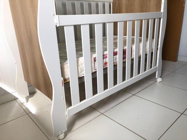 Berço mini cama Reller + colchão - Foto 2