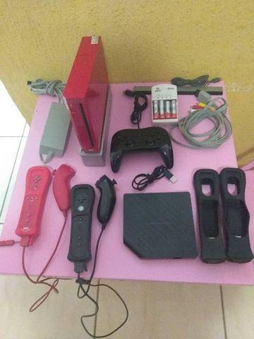 Nintendo Wii vermelho destravado  - Foto 2