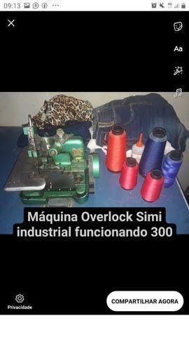 Máquina reta máquina Overlock