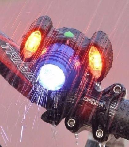 Lanterna Farol Bike Bicicleta 3 Leds T6 Recarregável Usb - Foto 4