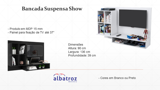Bancada Suspensa Show. Entrega rápida Wpp 99613=3789 - Foto 3