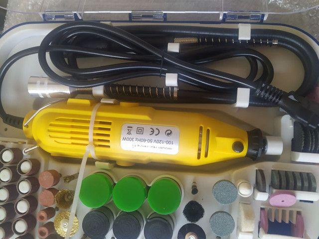 Kit Mini Retificadora 210 peças - Foto 2