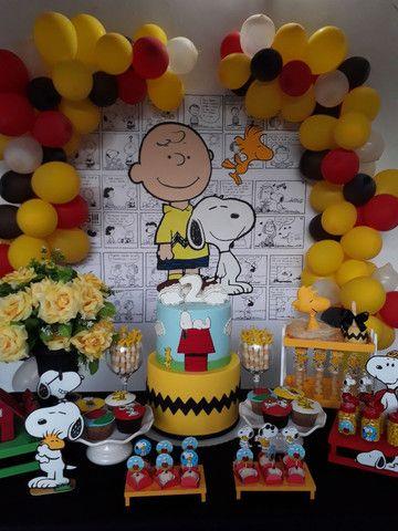 Kit Decoração Festa Turma do Snoopy - Foto 2