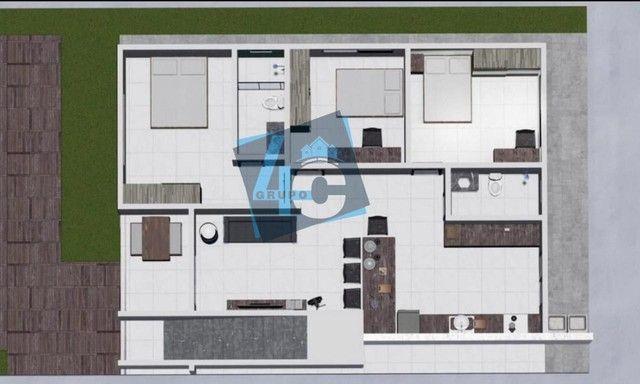 Apartamento com 3 dormitórios à venda, 89 m² por R$ 370.000 - Taperapuã - Porto Seguro/BA - Foto 4