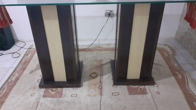 Mesa com tampa de vidro em perfeito estado, preço baixo - Foto 4