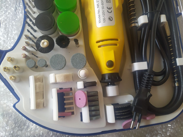 Kit Mini Retificadora 210 peças - Foto 5