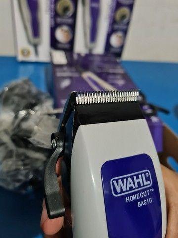 Máquina de cortar cabelo wahl barbeiro salão curso completo profissional - Foto 4