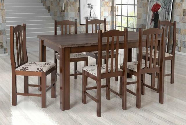 Mesa 6 cadeiras em eucalipto