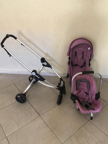 Kit carrinho e bebê conforto Kiddo - Foto 2