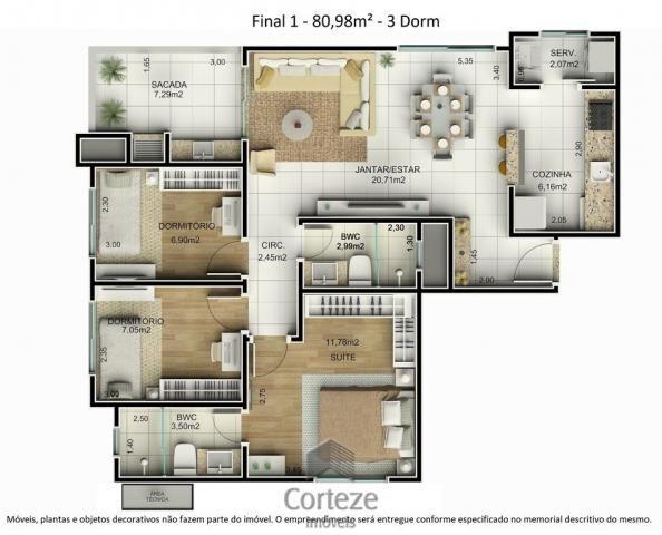 Cobertura duplex 3 quartos no Água Verde - Foto 14