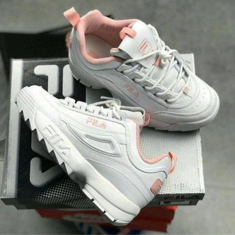 Tênis Fila Disbruptor Branco  Rosa - Roupas e calçados - Centro ... 6b91be6d777a2