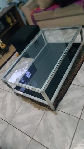 Mesa de centro de vidro semi nova - Foto 2
