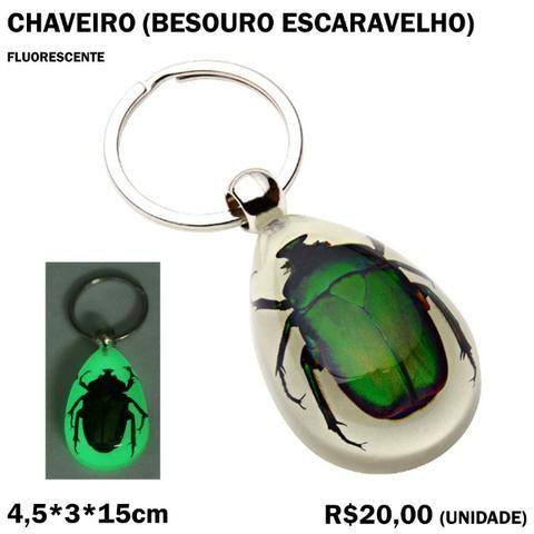 Chaveiro Fluorescente Besouro Escaravelho