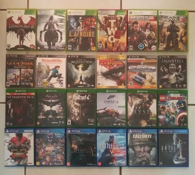 Jogos PS3, PS4, Xbox 360, Xbox One e PC