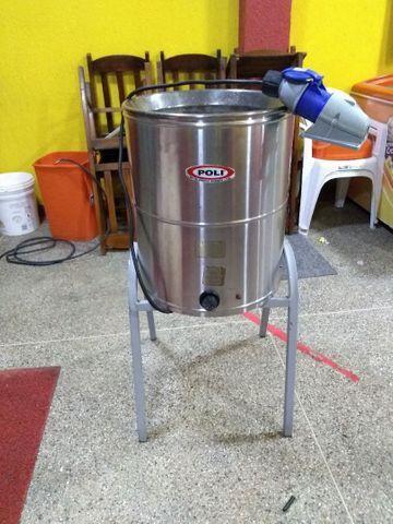 Fritadeira Elétrica POLI SIEMSEM Água e Óleo FC-N 24L Inox - 220V<br><br>