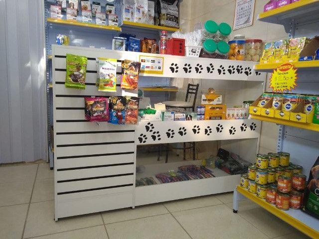 Balcão Vitrine com Vidro para loja de Pet Shop com Frete Grátis Direto da Fabrica - Foto 6