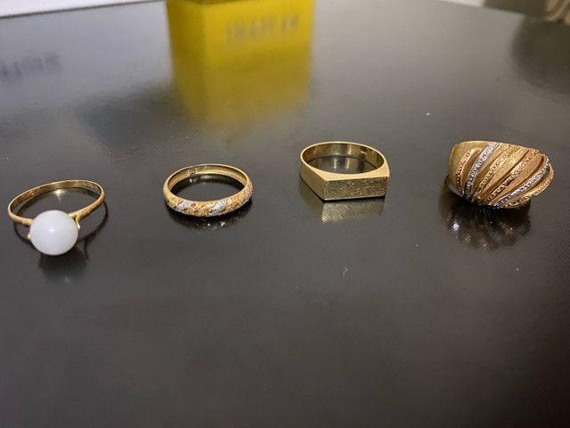 Anéis em ouro 18k - Foto 2