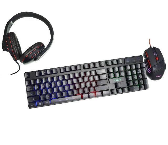 Kit Gamer - Teclado, Mouse e Fone Gamer - Foto 4