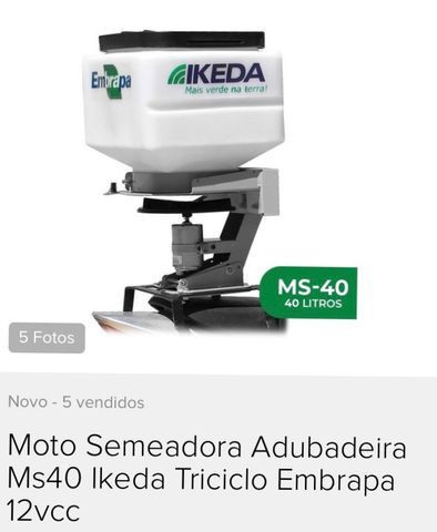 Moto semeadora Ikeda MS-40