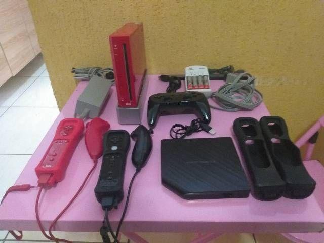 Nintendo Wii vermelho destravado