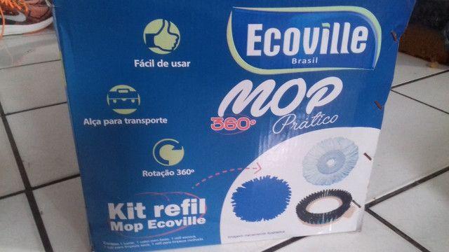 Mop prático 360° conjunto de balde espremedor inox - Foto 2