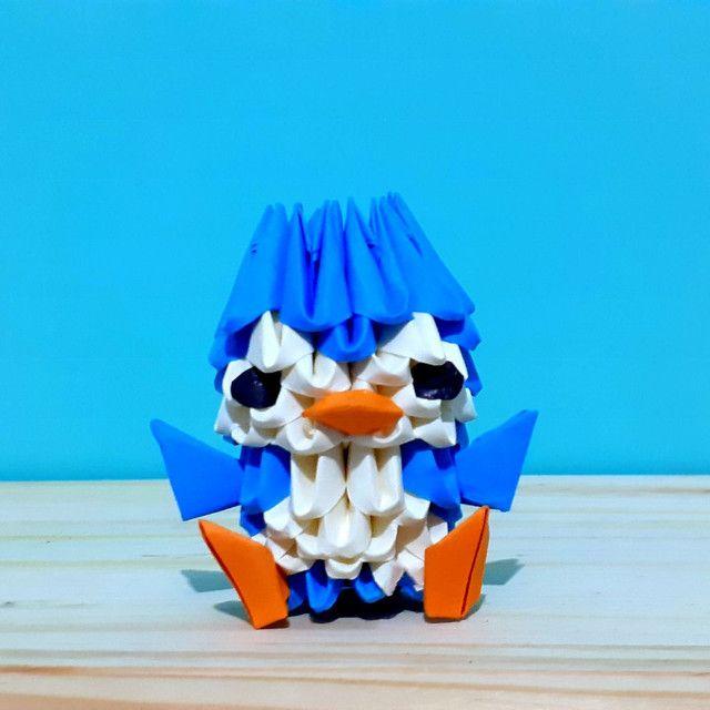 3x Origami De Pinguim. Duas Peças Mais Uma Grátis! - Foto 4