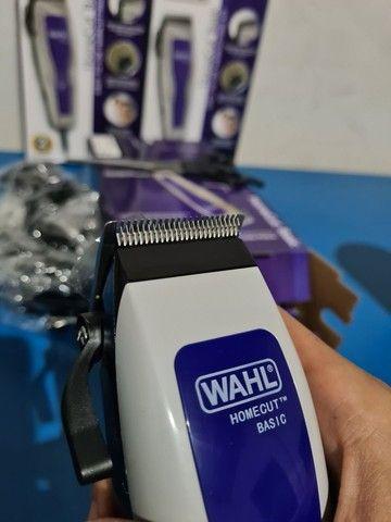 Máquina de cortar cabelo wahl barbeiro salão curso completo profissional - Foto 2