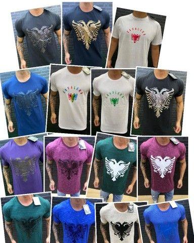 Camisetas Masculinas Nacionais Atacado - Foto 2