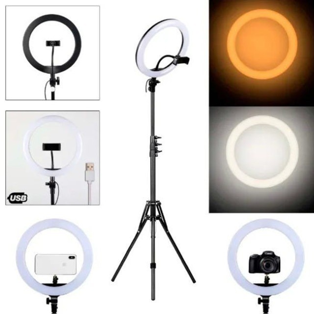 Ring Ligth 10 polegadas - Anel de Luz 26cm + suporte de celular + tripé 2mt