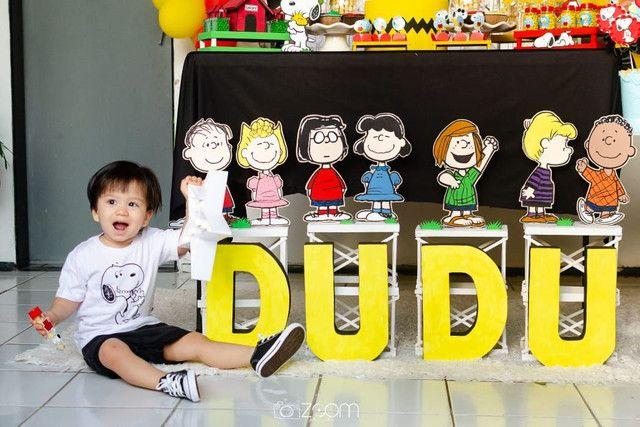 Kit Decoração Festa Turma do Snoopy - Foto 5