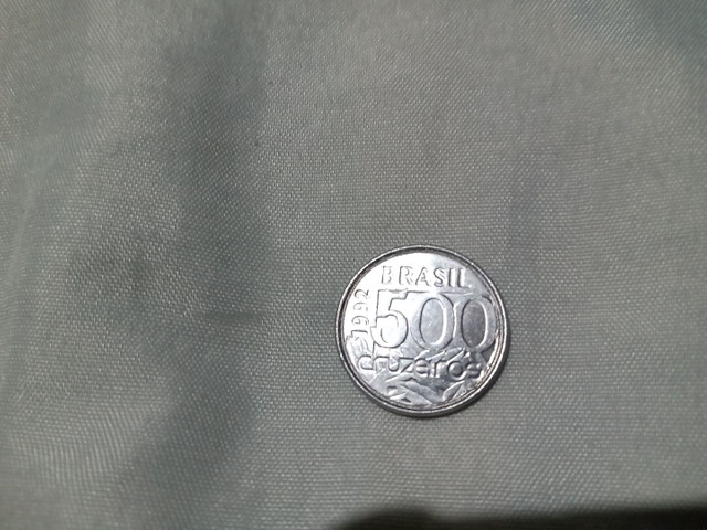 Moeda antiga de 500 cruzeiros